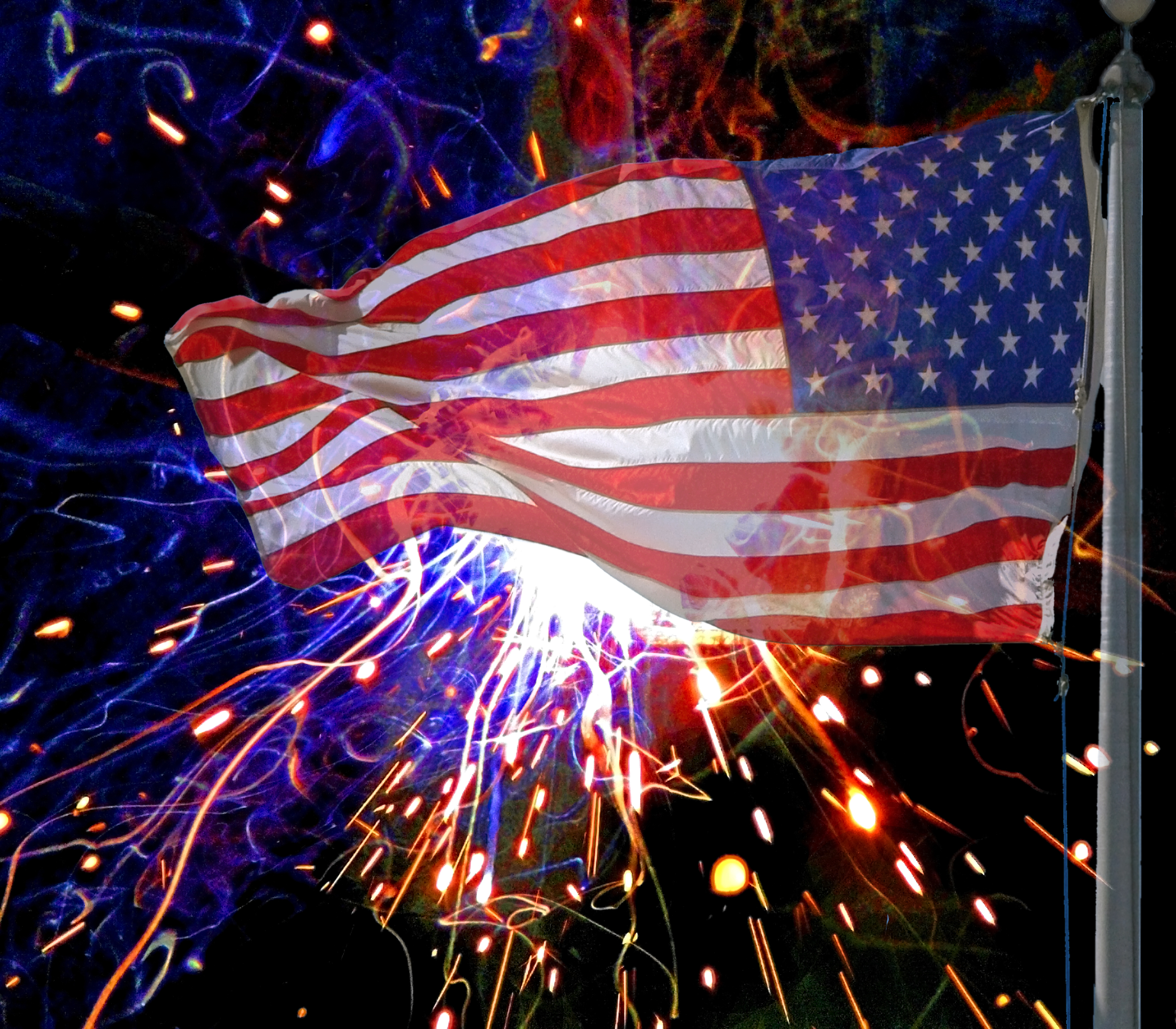 Photo based artistic rendering of the Holiday July 4th.