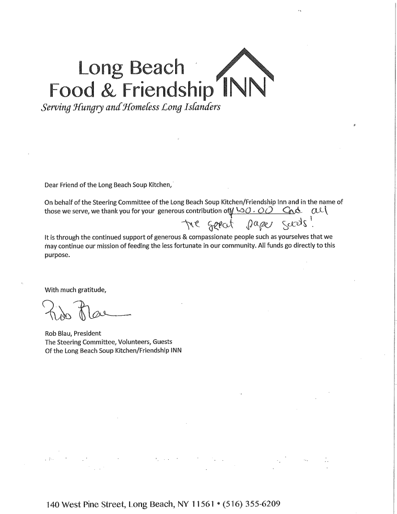 We Continue To Support The Long Beach Soup Kitchen And Their Incredible Mission Of Feeding Less Fortunate In Our Community